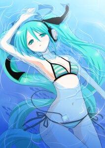 Rating: Safe Score: 46 Tags: bikini hatsune_miku headphones ootaka_narumi swimsuits vocaloid User: oppai