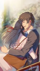 Rating: Safe Score: 44 Tags: business_suit kimi_no_na_wa miyamizu_mitsuha signed squidsmith tachibana_taki User: mash