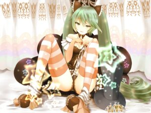 Rating: Questionable Score: 40 Tags: cleavage hatsune_miku pantsu shiabisu thighhighs vocaloid User: BattlequeenYume