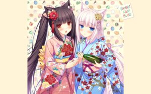 Rating: Safe Score: 51 Tags: animal_ears chocola kimono nekomimi nekopara sayori vanilla wallpaper User: kotorilau