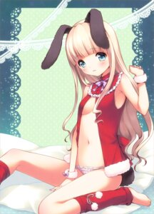 Rating: Questionable Score: 43 Tags: animal_ears bunny_ears christmas loli mani pantsu tail User: fairyren
