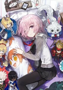 Rating: Safe Score: 32 Tags: alchemaniac arjuna_(fate/grand_order) armor chibi demon_archer dress fate/grand_order fou_(fate/grand_order) karna_(fate) mash_kyrielight mordred_(fate) pantyhose saber User: nphuongsun93