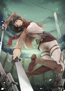 Rating: Safe Score: 39 Tags: kurakino_itsunori mikasa_ackerman shingeki_no_kyojin sword uniform User: Radioactive