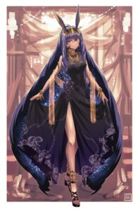 Rating: Safe Score: 18 Tags: animal_ears bunny_ears dress fate/grand_order fumafu heels nitocris_(fate/grand_order) skirt_lift User: Mr_GT