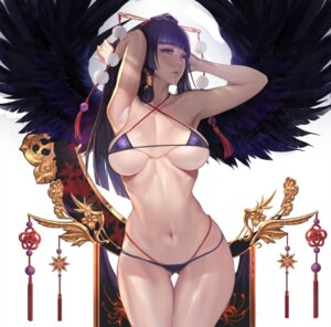 Rating: Questionable Score: 77 Tags: bikini dead_or_alive_5 erect_nipples gtunver nyotengu swimsuits underboob wings User: mash