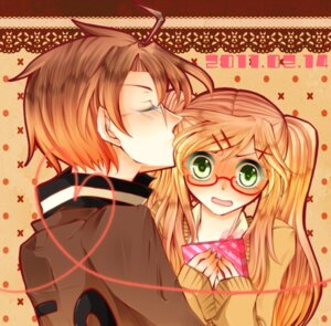 Rating: Safe Score: 6 Tags: america hetalia_axis_powers himako megane united_kingdom valentine User: Radioactive