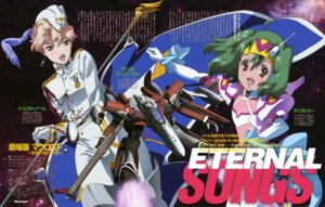 Rating: Safe Score: 9 Tags: cg gekijouban_macross_frontier macross macross_frontier mecha ranka_lee sahara_ako sheryl_nome thighhighs uniform vf_valkyrie User: KiNAlosthispassword