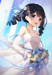 Rating: Safe Score: 47 Tags: dress nijisanji no_bra see_through skirt_lift tanushimon tsukino_mito wedding_dress User: yanis