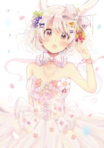 Rating: Safe Score: 52 Tags: animal_ears bunny_ears dress sakura_oriko wedding_dress User: Mr_GT