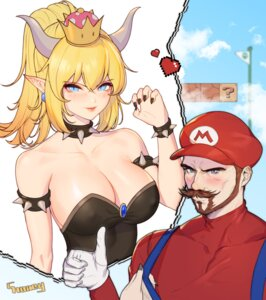 Rating: Safe Score: 28 Tags: bowsette choney cleavage horns mario new_super_mario_bros._u_deluxe pointy_ears User: Mr_GT