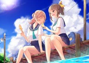 Rating: Safe Score: 30 Tags: natsu_(natume0504) seifuku wet User: BattlequeenYume