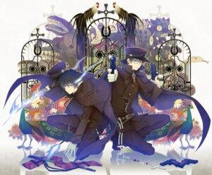 Rating: Safe Score: 15 Tags: ao_no_exorcist gun male megane okumura_rin okumura_yukio yuuno_(yukioka) User: hobbito