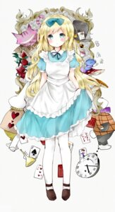 Rating: Safe Score: 22 Tags: alice alice_in_wonderland caterpillar_(wonderland) cheshire_cat dress mad_hatter pantyhose skirt_lift tsukiyo_(skymint) white_rabbit User: KazukiNanako