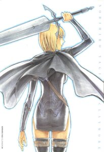 Rating: Safe Score: 5 Tags: clare claymore sword thighhighs yagi_norihiro User: Radioactive