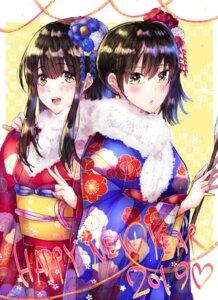 Rating: Safe Score: 14 Tags: akagi_(kancolle) kaga_(kancolle) kantai_collection kimono mochiko_(mocchikkoo) User: Mr_GT
