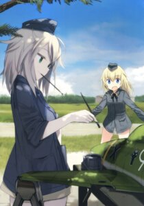 Rating: Questionable Score: 15 Tags: elfriede_schreiber helma_lennartz pantsu shimada_humikane strike_witches uniform User: Radioactive