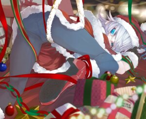 Rating: Questionable Score: 17 Tags: christmas izayoi_sakuya kumonji_aruto pantsu pantyhose touhou User: Mr_GT