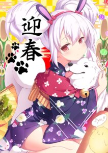 Rating: Safe Score: 60 Tags: animal_ears azur_lane bunny_ears japanese_clothes laffey_(azur_lane) sasakura_momizi User: Mr_GT