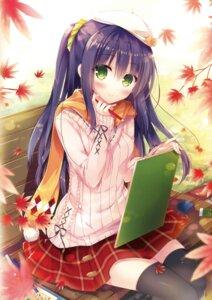 Rating: Safe Score: 69 Tags: hisama_kumako moco_chouchou sweater thighhighs User: Twinsenzw