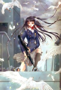 Rating: Safe Score: 6 Tags: gun minakami_kaori seifuku User: Davison