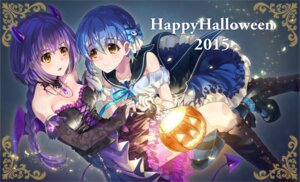 Rating: Safe Score: 22 Tags: cleavage dress halloween heels horns matsusatoru_kouji wings User: Mr_GT