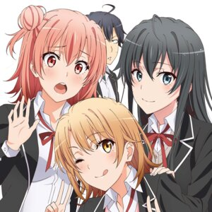 Rating: Safe Score: 90 Tags: disc_cover hikigaya_hachiman isshiki_iroha seifuku yahari_ore_no_seishun_lovecome_wa_machigatteiru. yuigahama_yui yukinoshita_yukino User: akagiss