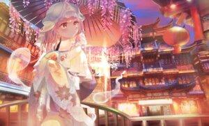 Rating: Safe Score: 10 Tags: japanese_clothes omodaka_romu saigyouji_yuyuko touhou umbrella User: BattlequeenYume