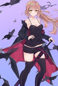 Rating: Safe Score: 30 Tags: cleavage cqingwei fate/grand_order no_bra saber saber_alter sword thighhighs User: whitespace1
