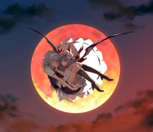 Rating: Safe Score: 31 Tags: izayoi_sakuya jpeg_artifacts minakata_sunao remilia_scarlet touhou wings User: Nekotsúh