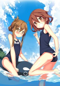 Rating: Questionable Score: 88 Tags: ass ikazuchi_(kancolle) inazuma_(kancolle) kantai_collection kawai_(purplrpouni) school_swimsuit swimsuits wet User: Mr_GT