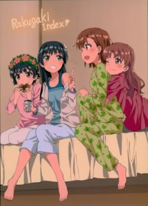 Rating: Safe Score: 16 Tags: delf feet misaka_mikoto pajama saten_ruiko shirai_kuroko to_aru_kagaku_no_railgun to_aru_majutsu_no_index uiharu_kazari yuri User: Radioactive