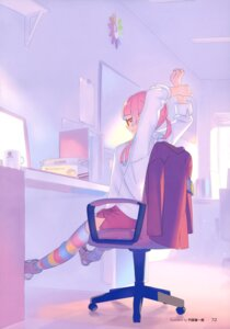 Rating: Safe Score: 13 Tags: megane rokusaki_coney thighhighs tokyo_7th_sisters User: drop