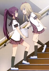 Rating: Safe Score: 60 Tags: seifuku sugiura_ayano toshinou_kyouko yuru_yuri User: drop