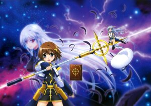 Rating: Safe Score: 14 Tags: mahou_shoujo_lyrical_nanoha mahou_shoujo_lyrical_nanoha_a's mahou_shoujo_lyrical_nanoha_the_movie_2nd_a's reinforce reinforce_zwei yagami_hayate User: drop