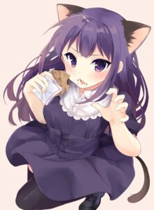 Rating: Safe Score: 52 Tags: animal_ears dress irone_(miyamiya38) nekomimi tail thighhighs working!! yamada_aoi User: Mr_GT