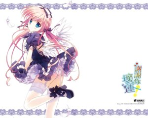 Rating: Questionable Score: 44 Tags: lolita_fashion pantsu rei stockings thighhighs wallpaper wings User: mula3