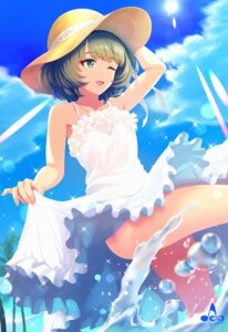 Rating: Safe Score: 33 Tags: dress infinote skirt_lift summer_dress takagaki_kaede the_idolm@ster the_idolm@ster_cinderella_girls wet User: Mr_GT