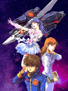 Rating: Safe Score: 5 Tags: hayase_misa ichijyo_hikaru lynn_minmay macross the_super_dimension_fortress_macross vf_valkyrie User: Radioactive