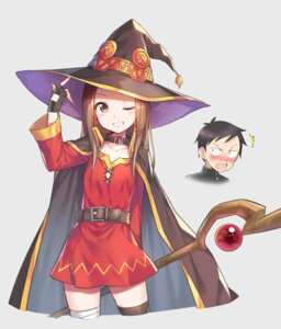 Rating: Safe Score: 43 Tags: bandages cosplay dress hika_(cross-angel) karakai_jouzu_no_takagi-san kono_subarashii_sekai_ni_shukufuku_wo! nishikata takagi-san thighhighs weapon witch User: RyuZU