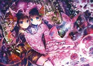 Rating: Questionable Score: 47 Tags: akabane kimono lolita_fashion thighhighs wa_lolita wet User: Twinsenzw