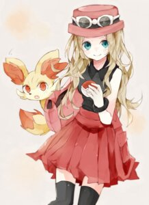 Rating: Safe Score: 32 Tags: fennekin pokemon pokemon_xy serena_(pokemon) sikuku thighhighs User: KazukiNanako
