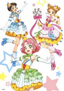 Rating: Questionable Score: 7 Tags: aikatsu! arisugawa_otome dress heels kamiya_shion kitaouji_sakura User: Radioactive