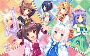 Rating: Safe Score: 48 Tags: animal_ears azuki chocola cinnamon_(nekopara) cleavage coconut dress heterochromia maple_(nekopara) minazuki_shigure neko_works nekomimi nekopara sayori seifuku sweater tail vanilla wallpaper yukata User: kotorilau