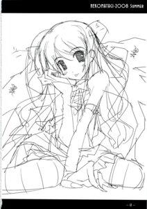 Rating: Safe Score: 1 Tags: monochrome nekoyashiki sasaki_mutsumi sketch thighhighs User: noirblack