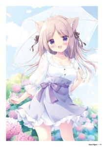 Rating: Safe Score: 25 Tags: animal_ears canvas+garden cleavage dress miyasaka_nako tagme umbrella User: lightsnow