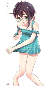 Rating: Safe Score: 28 Tags: dress kantai_collection megane nayuhi okinami_(kancolle) undressing wet_clothes User: nphuongsun93