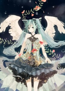Rating: Safe Score: 8 Tags: anbivarens hatsune_miku vocaloid wings User: hobbito