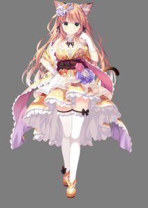 Rating: Safe Score: 15 Tags: animal_ears cleavage japanese_clothes neko-nin_exheart_3 nekomimi saiga_himari tail takano_yuki thighhighs transparent_png whirlpool User: moonian