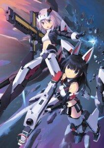 Rating: Questionable Score: 19 Tags: agatsuma_kaede alice_gear_aegis armor gun hirasaka_yotsuyu mecha_musume possible_duplicate shimada_humikane User: Radioactive