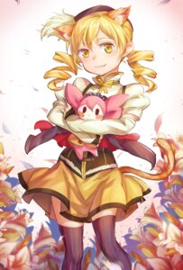 Rating: Safe Score: 20 Tags: animal_ears charlotte_(puella_magi_madoka_magica) nekomimi pg_(pgouwoderen) puella_magi_madoka_magica tail thighhighs tomoe_mami User: Mr_GT